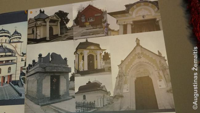 Čigonų kapai kičo muziejaus nuotraukose (dešinėje). 'Anglijoje geriau, nei Rumunijoje, nes ten pašalpos didesnės' – kalbėjo muziejaus filme viena čigonė. Apie algas nekalbėjo. Rūmai bei kapai irgi, sakoma, iš pašalpų