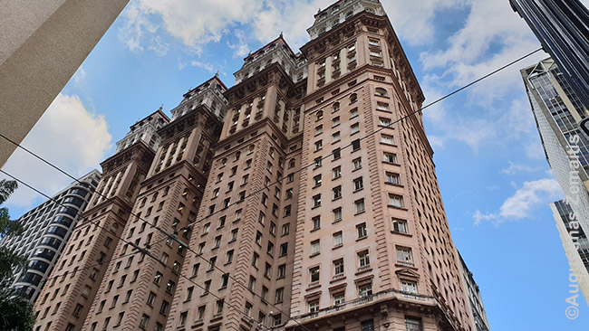 Edificio Martinelli - vienas garsiausių San Paulo dangoraižių