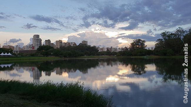 Irabpueros parkas, viena nedaugelio bent kiek įdomesnių vietų turtinguose San Paulo rajonuose