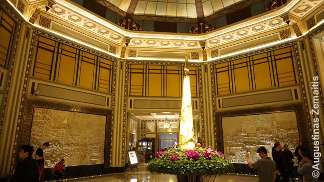 Žydų įkurto Bundo viešbučio interjeras, šiandien daugiausiai džiuginantis naujuosius kinus