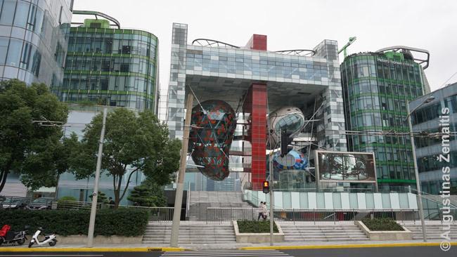 Šanchajaus kruizinių laivų upstas - vienas architektūriškai įspūdingų naujų pastatų
