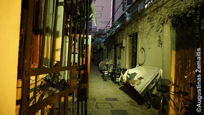 Tradicinė sena Šanchajaus gatvelė