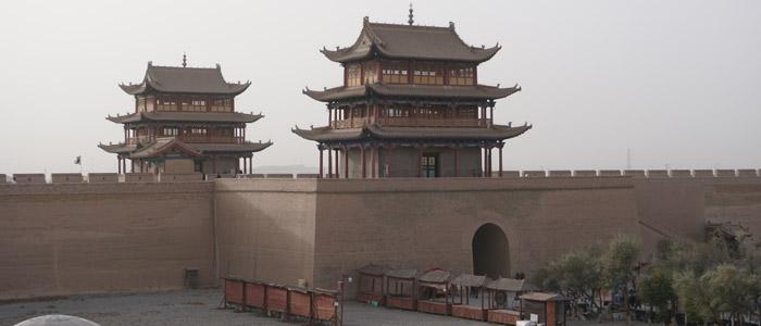 Paskutinis Kinų sienos fortas vakarinėje dykumoje palei Šilko kelią