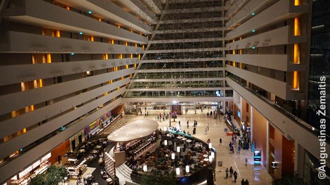 Marina Bay, vieno žymiausių pasaulio viešbučių, vidus