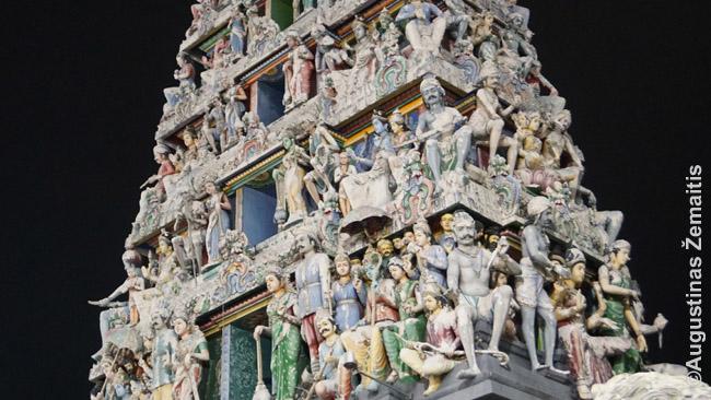 Hinduistų šventyklos fragmentas
