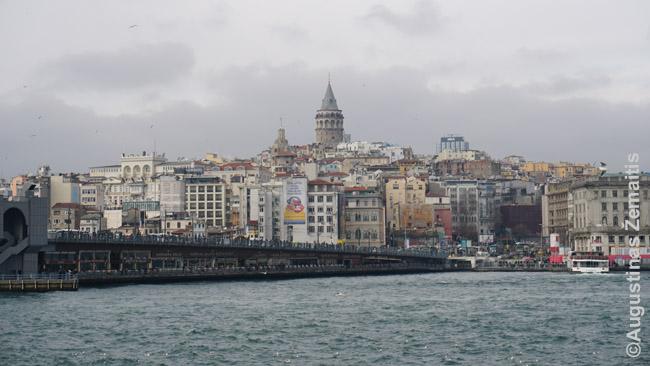 Galatos bokštas kyla virš Galatos rajono Stambule