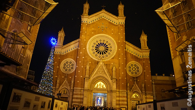 Šv. Antano Paduviečio bažnyčia - didžiausia katalikų bažnčyia Stambule - prie Istiklalio gatvės. Paruošta Kalėdoms, kurių šventime regėjau tiek filmuojančių mobiliųjų telefonų, kad supratau - dauguma lankytojų yra turistai