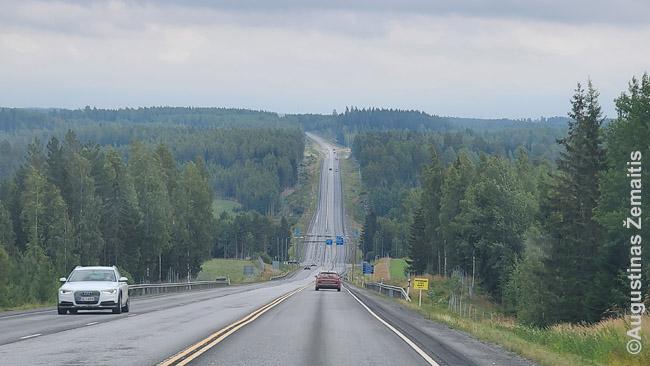 Keliu per Suomijos mišką
