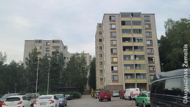 Sovietų Sąjungos mikrorajonus įkvėpę pastatai Suomijoje