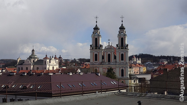 Vaizdas nuo Sveikatos apsaugos ministerijos stogo