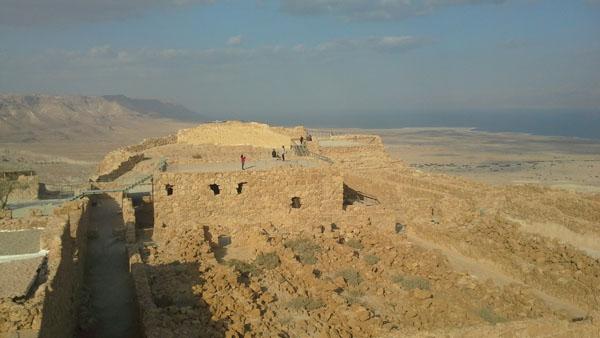 Masados tvirtovė nuo viršaus