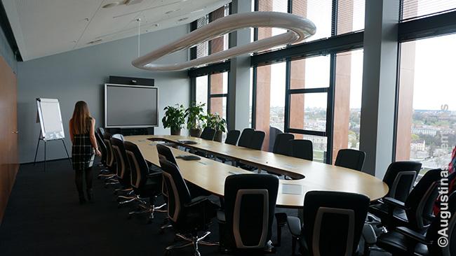 Posėdžių salė Swedbank viršuje