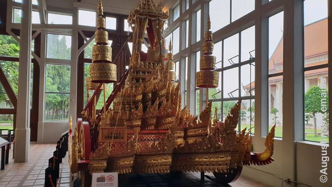 Karališkas vežimas Bankoko nacionaliniame muziejuje
