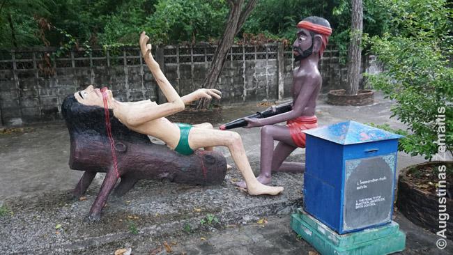 Ši skulptūra vienoje tajų šventyklų(!) vaizdžiai parodo, kas, pasak tajų tikėjimo, kitame gyvenime atsitiks moterims, kurios naudos kontraceptikus
