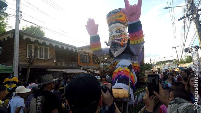 Phi Ta Khon šventės parado fragmentas