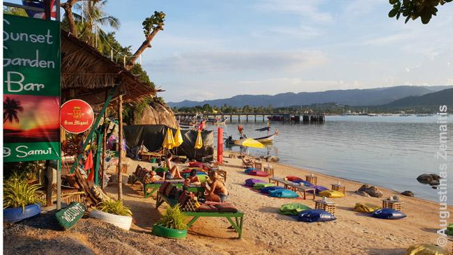 Paplūdimio baras Ko Samui saloje