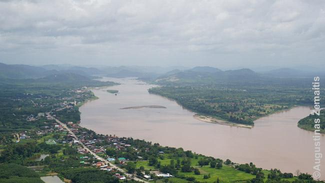 Mekongo upė. Kitame krante - Laosas