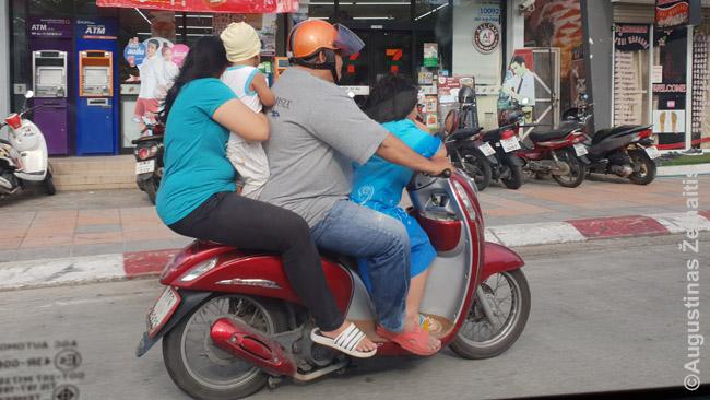 Tajams motociklas - ir šeimos transporto priemonė
