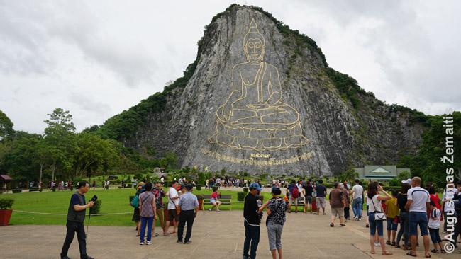 Paauksuotas Buda kalne prie Patajos