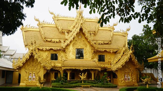 Auksaspalviai Čiang Majaus baltosios šventyklos tualeto rūmai