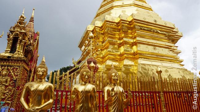 Doi Sutep kalno šventykla Čiang Majuje