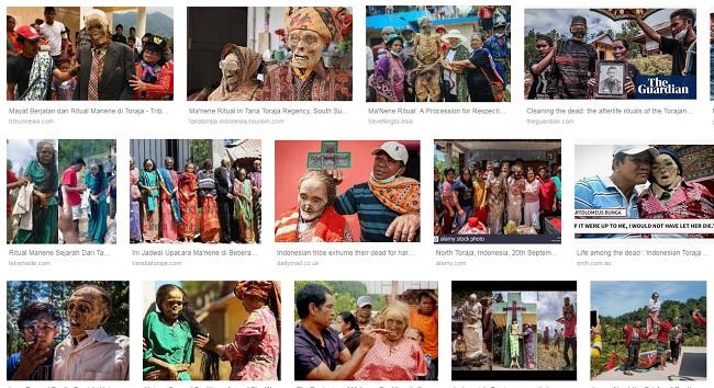 Tokius vaizdus randa Google įvedus į paiešką Manene Toraja