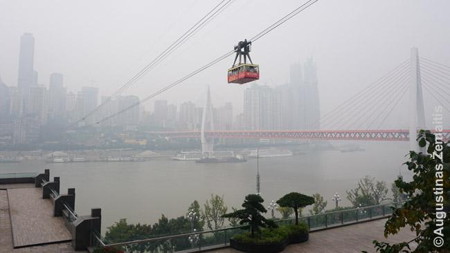 Lynų keltuvas Čongčinge statytas kaip viešasis transportas, jungiantis upių puses. Tačiau atsiradus tiltams jis tapo labiau turistine pramoga, pabrango. Daug miesto laivų bei lynų kelių iš tikro nėra viešasis transportas ir jų kainos labiau kaip turistinės atrakcijos, bet kai kurie dar tarnauja ir vietiniams.
