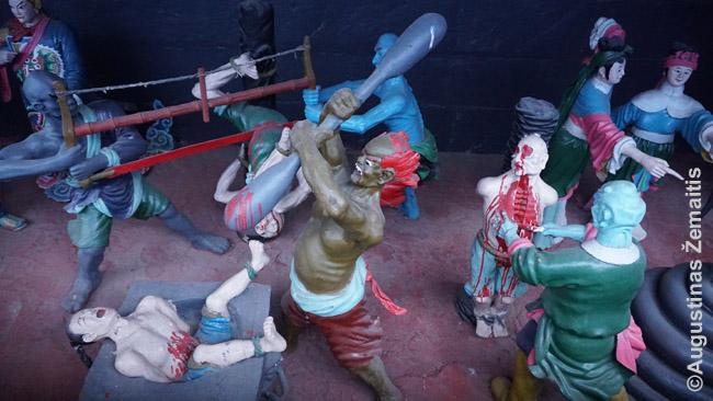 Pragaro kankinimų dioramos Fengdu vaiduoklių mieste