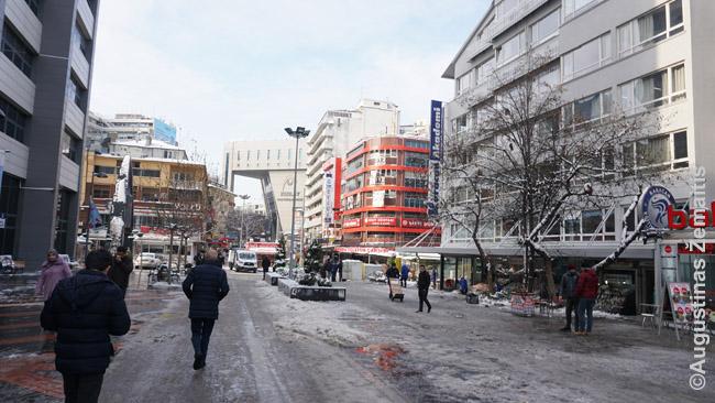 Ankaros centras. Net butą mums išnuomavęs žmogus kalbą pradėjo nuo kritikos savo miestui: Ankaroje nėra ko žiūrėti. Stambulas – gražus, Izmiras – gražus, Antalija – graži. Ankaroje – nieko gero.'