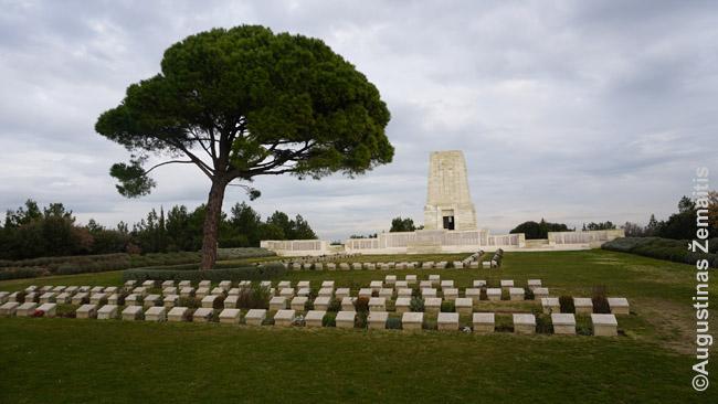 Australų kapinės Galipolyje. Jie žuvo mėgindami paimti Stambulą. Per visą istoriją Stambulo miestas krito vos kelis kartus