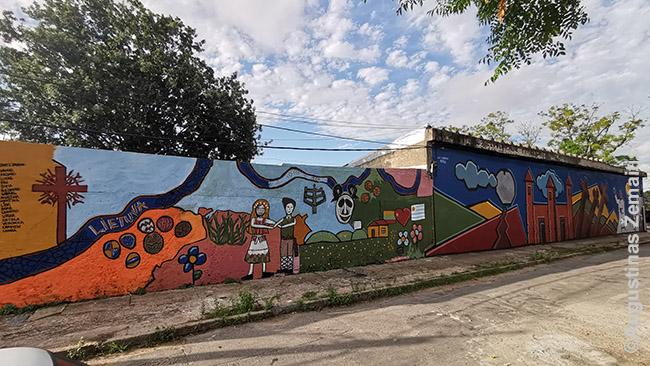 Urugvajaus lietuvių klubą puošianti freska