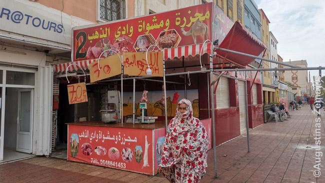 Kupranugarių mėsos parduotuvė Dachloje