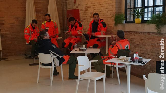 Laikina gelbėtojų bazė Venecijos arsenale