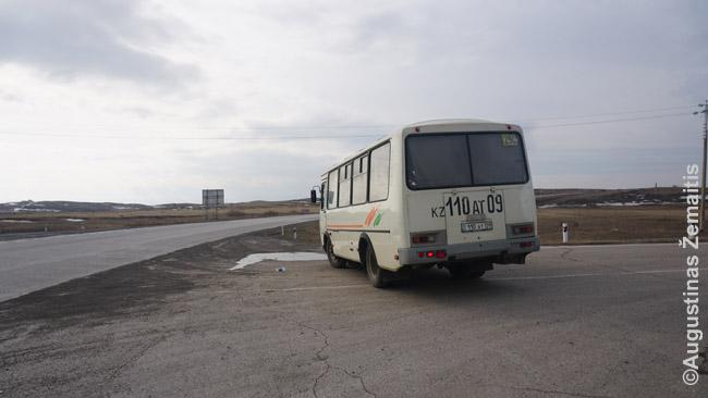 Viena sunkiau susiorganizuotų išvykų viešuoju transportu: į buvusį Spasko gulagą autobusas vežė tik anksti ryte. Teko laukti, ar niekas nenorės autobusu važiuoti toliau - tik tada pardavė vietą išlipantiems artimiausioje stotelėje (tiksliau, plynoje stepėje). Atgal grįžti teko autostopu. Įdomus nuotykis - bet jei taip tektų važinėti visą kelionę, matyt, geriau rinktis kitus būdus, nei viešasis transportas