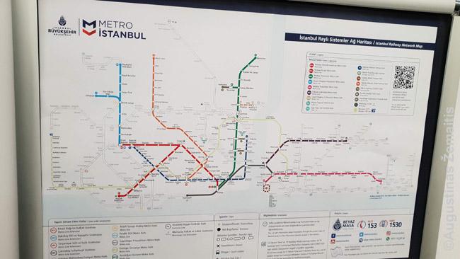 Metro planas. Nors metro planus, kuriuose paprastai nežymima kas viršuje ir tik schematiškai pabraižomos linijos, perkąsti gali prireikti laiko, jau perkandus, lengva prisiminti linijas
