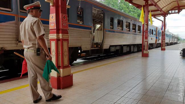 Traukinių stotis Hua Hin Tailande