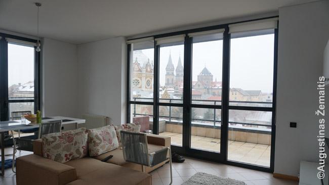 Trijų kambarių penthauzo butas centre su tokiais vaizdais Timišoaroje (Ruminija) kainavo 33 eurus. Tuo pat metu tame pat mieste panašiai kainavo eiliniai (ne liukso) viešbučių numeriai, o liuksai buvo gerokai brangesni