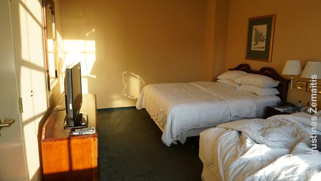 Tipinis viešbučio kambarys - labai panašus jis gali būti ir 1*, ir 5* žvaigždučių viešbutyje, skirsis tik detalės