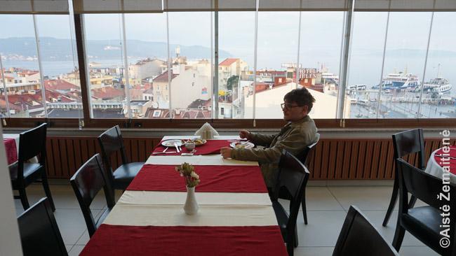 Pusryčių restoranai kartais būna gražūs. Čanakalė, Turkija
