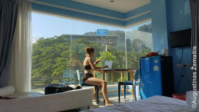 Jei kelionė labai aktyvi ir pažintinė, viešbučiai išvis nelabai svarbu, nes ten tik nakvosi. Bet jei kelionėje ir poilsiauji, dirbi, visai svarbu vaizdas pro langą, nes nemažai laiko praleisi ir numeryje
