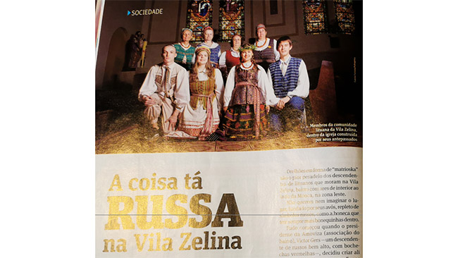 Vila Zelinos lietuvių iniciatyva portugališkame Brazilijos žurnale parašytas straipsnis apie rusų puolimą Vila Zelinoje bei rajono lietuvišką istoriją
