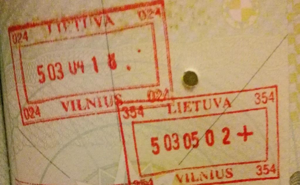 Net grįžus į Lietuvą iš kitų Europos šalių kadaise dėdavo tokius štampus