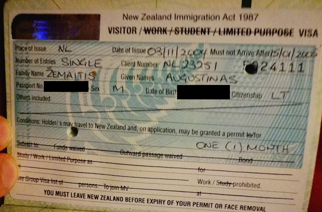 Naujosios Zelandijos viza