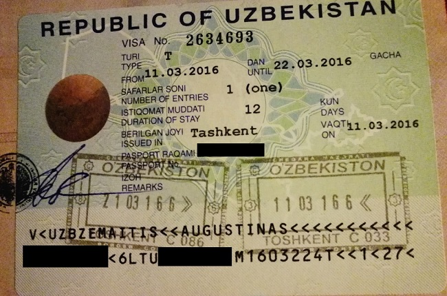 Uzbekijos viza