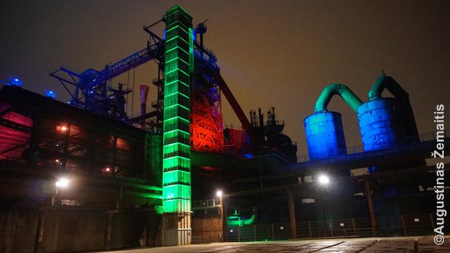 Duisburgo Landšaftparkas naktį