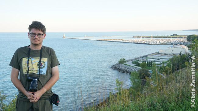 Ant aukšto Mičigano ežero kranto Port Vašingtone