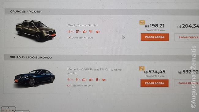 Automobilio rinkimasis tinklapyje