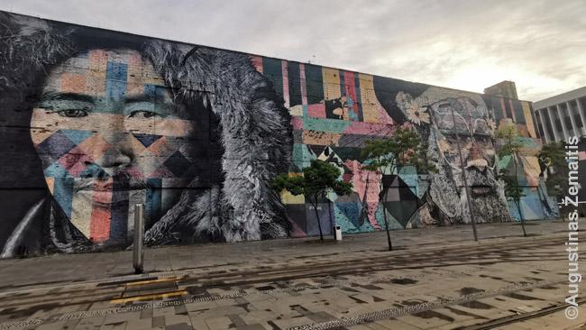 Eduardo Kobros grafitis, skirtas olimpiadai