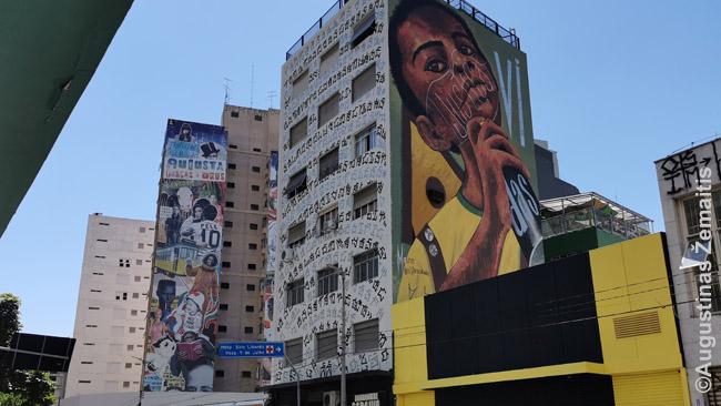 Brazilija garsėja gražiais grafičiais, o įspūdingiausi - ant plynų San Paulo daugiaaukščių sienų. Ne viena gatvė - tikra jų galerija