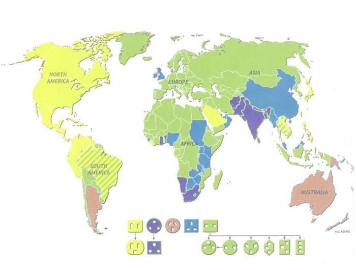 Kokios kur pasaulyje rozetės? Besivystančiose šalyse kartais būna keletas rozečių rūšių.